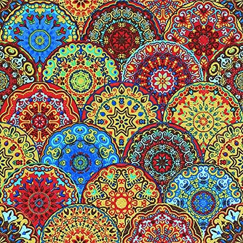 Servietten (2er Set / 40Stück) 3-lagig 33x33cm Sommer Muster (Gothic rosettes)