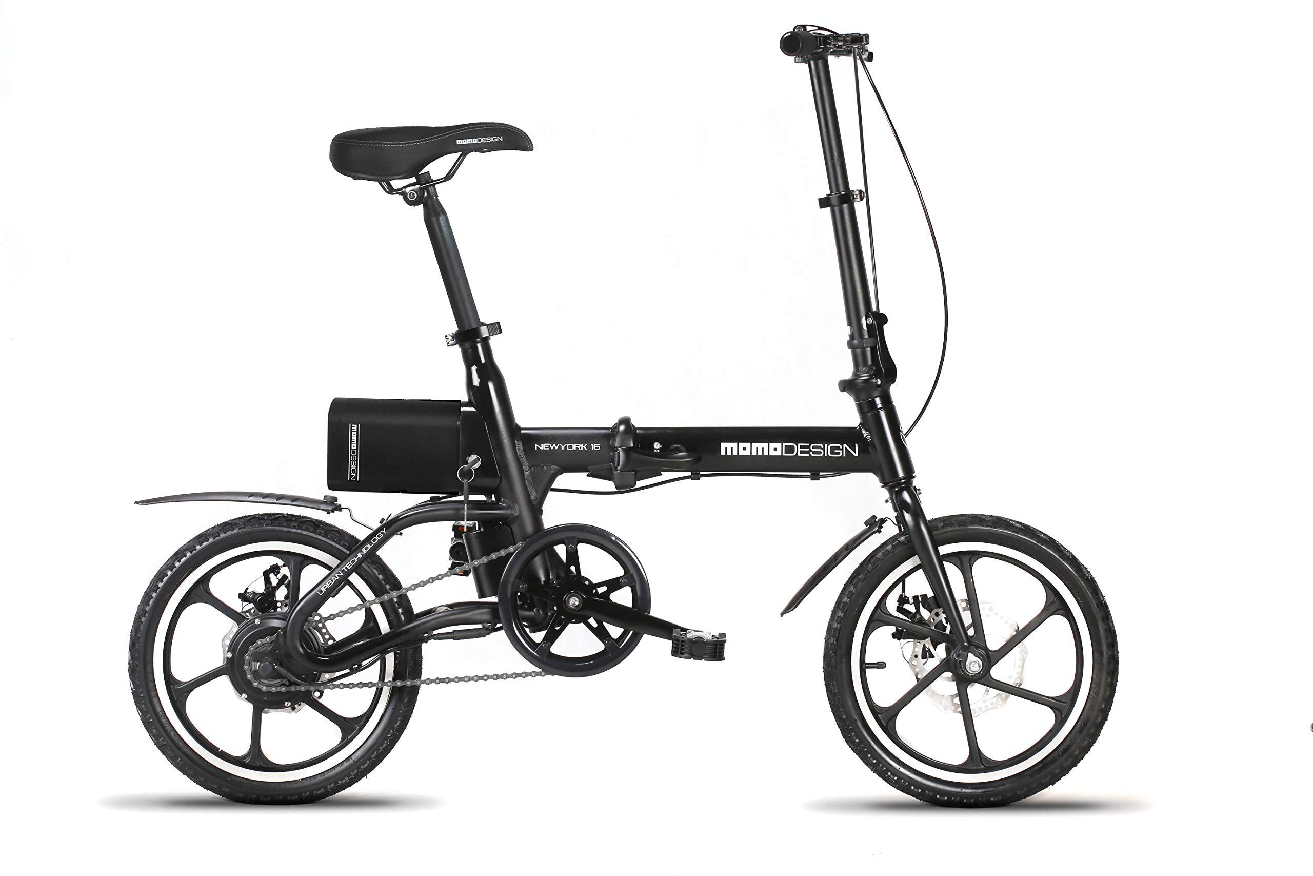Momo Design New York 16 Bicicletta Elettrica Pieghevole 16