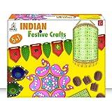 imake indian festive navratri & diwali crafts activity box for boys & girls, diy learning gift (Multi color)