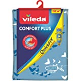 Vileda - Comfort Plus - Housse pour Planche à Repasser, Taille Universelle jusqu'à 130 cm x 40 cm, Design Papillon - Couleur