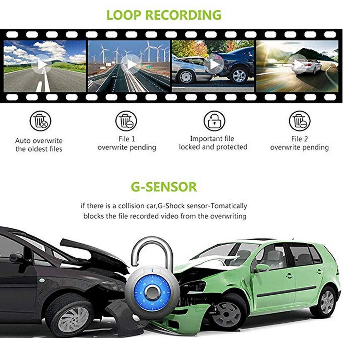DashcamVISGOGO-Autokamera-10-Zoll-Touch-Screen-Dashcam-Rckspiegel-Full-HD-1080P-Weitwinkel-Frontkamera-und-720P-Rckfahrkamera-mit-Nachtsicht-Parkplatz-berwachungBewegungserkennungGPSG-Sensor