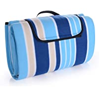 EKKONG Extra Large Picnic & Outdoor Beach Blanket with Water-Resistant Backing - Tote 79