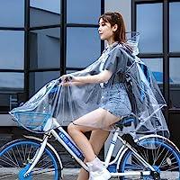Poncho Antipioggia trasparente Con design a strisce riflettenti Poncho Impermeabile Antivento Cappuccio Raincoat…
