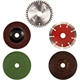 Combo Offer of 4 Inches or 110 mm Wheel-Grinding Angle Grinder, Set of 5 (TVW001)