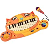 B. toys – Meowsic jouet piano préscolaire – Clavier à forme de chat pour enfants avec microphone - Enfants âgés de 2 ans et p