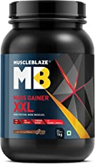 MuscleBlaze Cookies and Cream Flavour Mass Gainer XXL,1kg