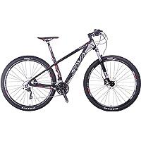 SAVANE Vélo de Montagne, 29 Pouces Deck 300 Fibre de Carbone Complete Tail Dur Vélo Shimano M6000 DEORE 30 Vitesse