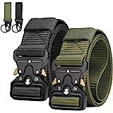 AivaToba Cintura Tattica Uomo Heavy Duty Nylon Cintura Cobra Militare Esercito con Fibbia in Metallo a Sgancio Rapido per Cac
