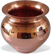 AsiaCraft Handmade Copper Kalash, Brown