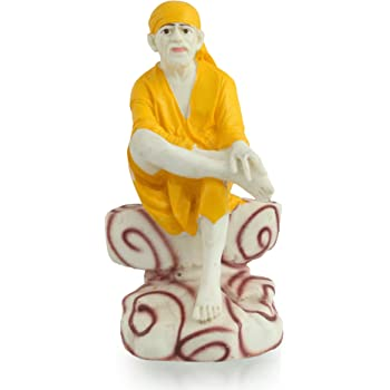 Buy Divine Gifts Brass Sai Murti Singhasan Idols For Car
