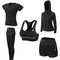 JULY'S SONG Abbigliamento Sportivo da Donna, T-Shirt 5set Suit per Sport Yoga Ginnastica Sport Include Manica Lunga e…
