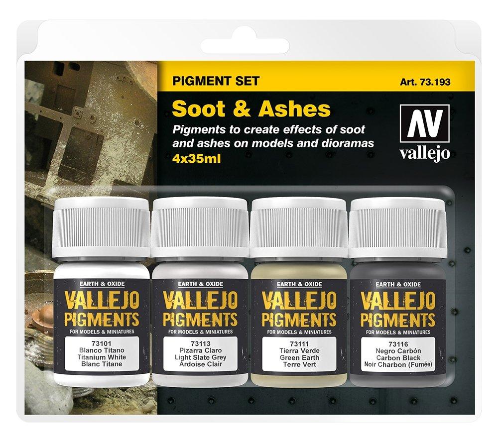 Acrylicos Vallejo fuliggine e cenere pigmenti set