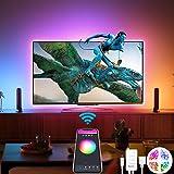Alexa USB Tiras LED TV 3M, Luces de LED WiFi inteligente Bluetooth Sync con Música, Control de App y Voz Compatible con Alexa