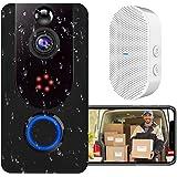 Video Doorbell, Bextgoo Deurbel Camera, 1080P Heldere Foto's, PIR-bewegingsdetectie, Wi-Fi Video Deurbel Met Gratis Cloudopsl