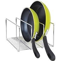 mDesign égouttoir pour casseroles, couvercles et poêles – Porte-Couvercle Compact pour l'armoire de Cuisine – Range…