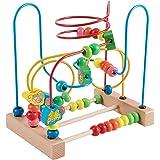 Jacootoys Labyrinthe de Perles en Bois Animal Circuits de Motricité Roller Coaster Educatif Jouets Enfant Garcon Fille Cadeau