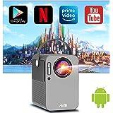 Proiettore Portatile Android TV 9.0 Artlii Play Smart Proiettore Wifi Bluetooth Mini Proiettore Supporta 1080P Full HD HiFi S