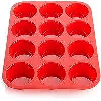 Ecoki Muffinform aus Silikon, Backform für 12 Muffins - LFGB Zertifiziert BPA-frei Muffinblech für Cupcakes, Pudding…