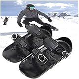 TGYY Mini skidskor skateskates för snöskor, bärbar nylon svart en storlek metallspänne skidskoskydd för vintersport utomhus