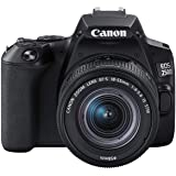 Canon EOS 250D + Canon EF-s 18-55 mm f/4-5.6 IS STM - Nero - Versione UK