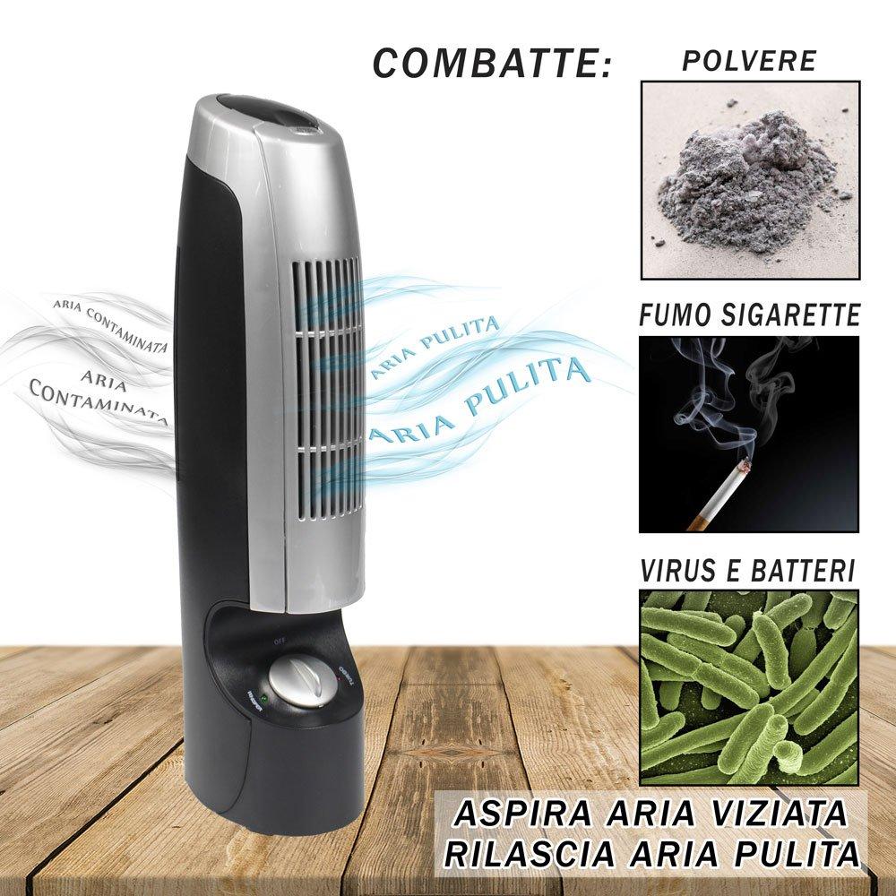 Vetrineinrete� Purificatore d'aria con ionizzatore igienizzante rimuove i batteri germi e cattivi od