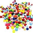 Mini Pompons Loisirs Créatifs 300Pcs Craft Pompons Pom Pom Décoratifs pour Artisanat Pompons Colorés Boules Boules à Pompon é