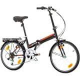 BIKE SPORT LIVE ACTIVE Klapprad Faltrad Fahrrad Herren Damen Jungen Folding 20 Zoll Shimano 6 Gang Weiß