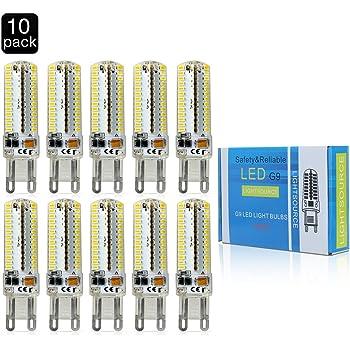 ELINKUME G9 SMD 3014 Bombilla LED AC220V G9 7W llevó la lámpara LED de las bombillas 220V del bulbo del proyector G9 en lámpara de cristal blanco caliente ...