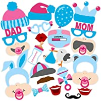 SYGA Set of 22 Baby Shower Props for Family Function