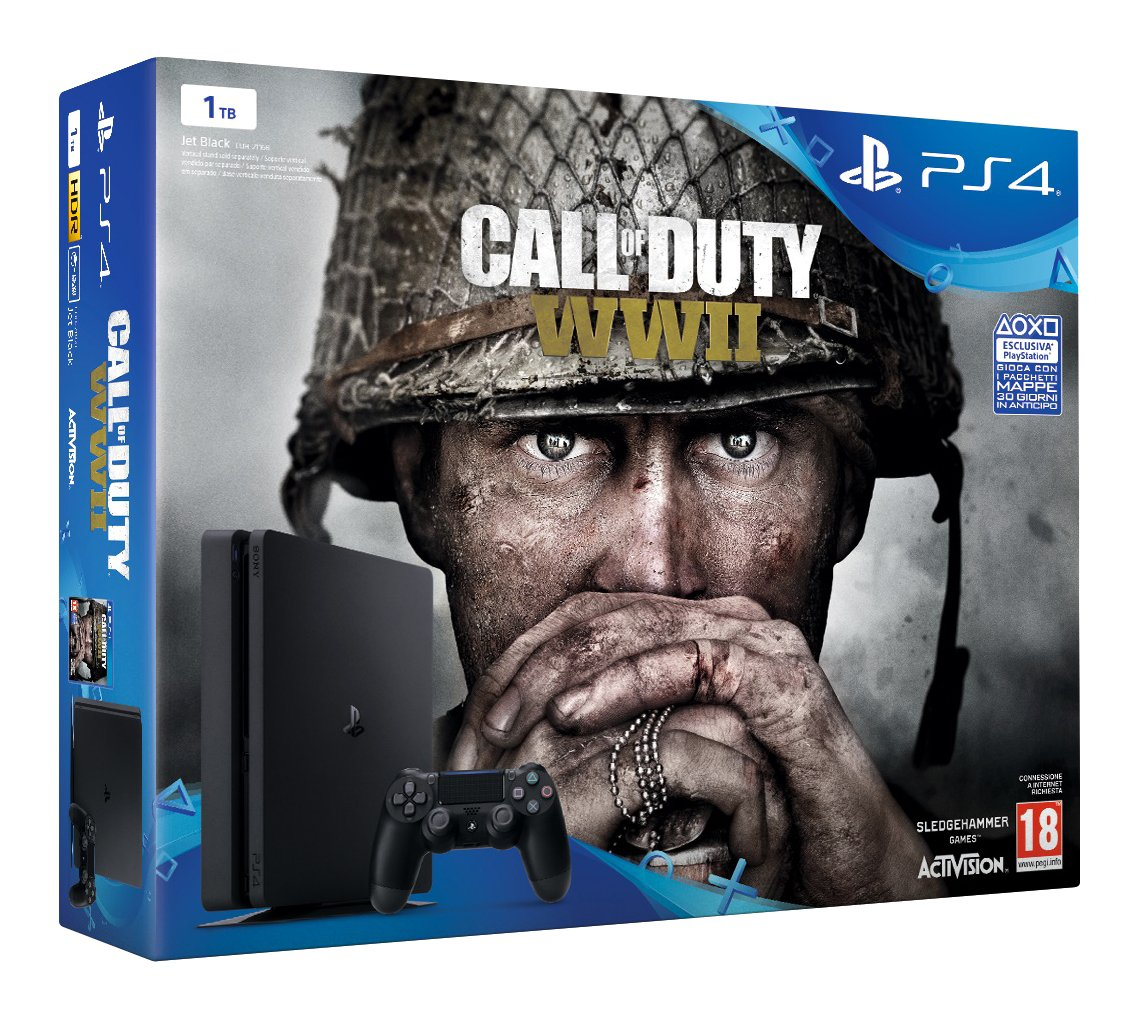 PlayStation 4 (PS4) – Consola De 1 TB + COD WWII