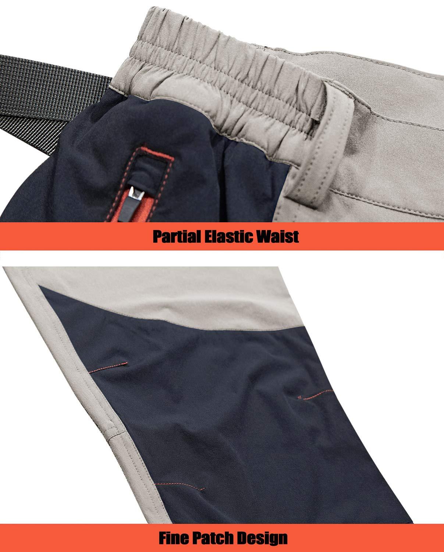 71aE9b79rsL - TACVASEN Men's Lightweight Sport Walking Trousers Outdoor Hiking Pants with Zipper Pockets