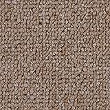 Teppichboden Auslegware   Schlinge gemustert   400 und 500 cm Breite   dunkel-beige   Meterware, verschiedene Größen   Größe: 3,5 x 4m