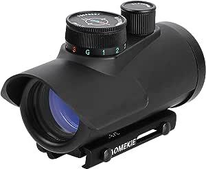 Aomekie Softair Red Dot Visier Für 11mm 22mm Schiene Leuchtpunktvisier Rotpunktvisier Mit Schutz Und Tactical 3 Reticles Für Jagd Softair Und Armbrust Sport Freizeit