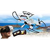 Angle 120 Altitude HD Wifi VR, inkl. VR-Brille, Altitude Hold Adjustment, Kompass/Flyback, Track following - Flugbahn-Planung-Modus,120° Weitwinkel-Kamera,Unterspannungswarnung,40 KM/h