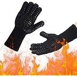Barbecuehandschoenen, hittebestendige, grillhandschoenen met 800 °C, extreem hittebestendige, antislip ovenhandschoenen, bakh