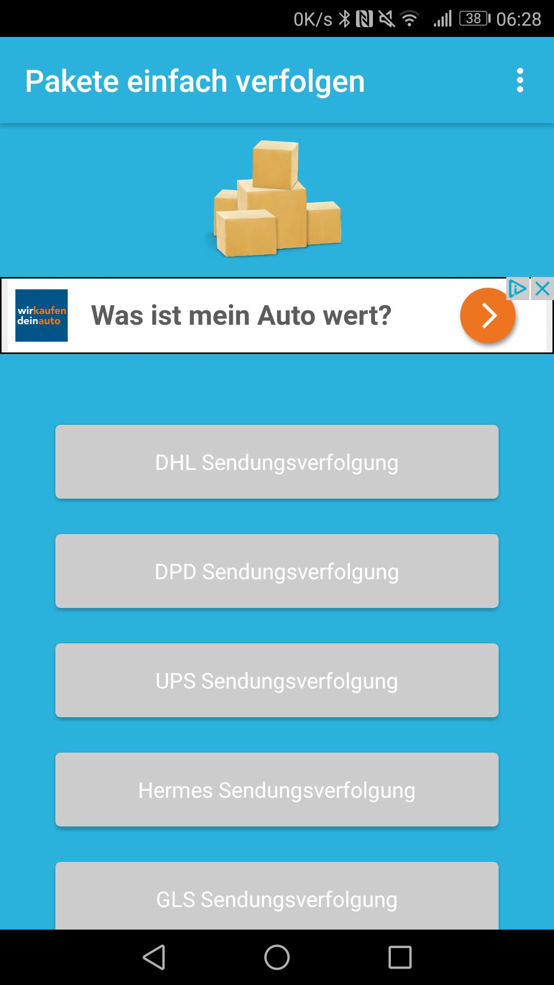Sendungsverfolgung Für Dhl Dpd Ups Co Amazonde Apps Für Android