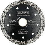 DT-DIATOOL Disco Tronzador Diamante 115 mm x 22,23 mm/20 mm Hoja de Sierra con Malla Turbo para Corte de Porcelanico Azulejos