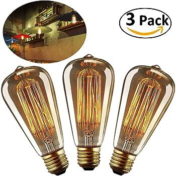E27 RETRO Edison DECO-Glühlampe T45 klar Tube 40 Watt Glühbirne 40W Vintage