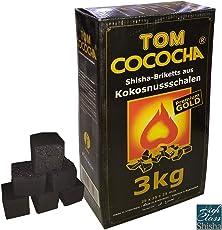 TOM Cococha Gold, 3kg, Shisha Kohle aus Kokosnussschalen Wasserpfeife / Hookah