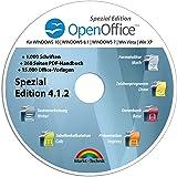 Open Office Spezial-Edition für Windows 10-8-7-Vista-XP | PC-Software mit 15.000 Vorlagen, 1.000 Schriften und PDF Handbuch | Alternative zu Microsoft Office | Kompatibel mit Word, Excel und PowerPoint