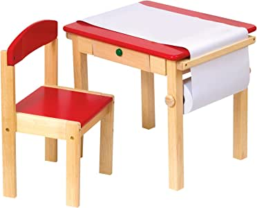 GuideCraft Art Table and Chair Set, Red