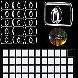 60 Piezas de Mini Ganchos Transparentes Decorativos, Clips de Luces de Fiesta, Clips de Decoración para Guirnalda de Luces, C