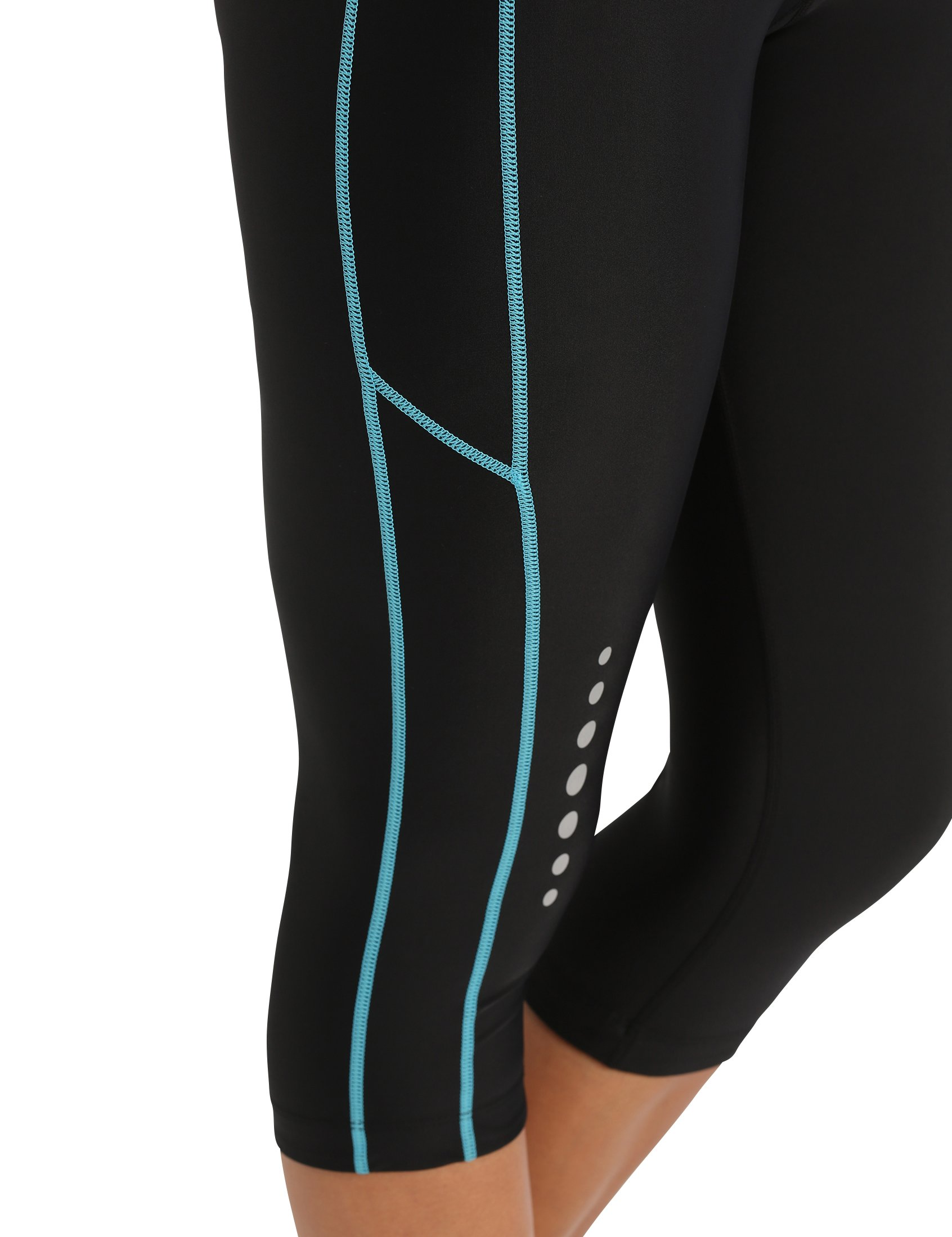 71aHCqAFA1L - Ultrasport Women's Running Pants Capri with Compression Effect & Quick-Dry-Function