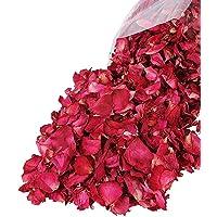Lvcky 100G Naturale Petali di Rosa essiccati Fiori Veri Dry Rosso Rose Petalo per pediluvio Corpo Bagno Spa Wedding…