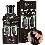 Shampoo Per Capelli neri, Shampoo Per La Drescita Dei Capelli, Shampoo e Balsamo Scurente Naturale Shampoo Capelli Scurente O