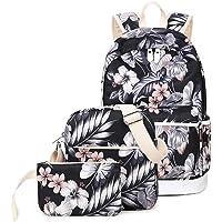 Joymoze Wasserdichter Modischer Bedruckter Schulrucksack für Mädchen Süß Laptop Rucksack Set 3 Stück für Damen Casual…