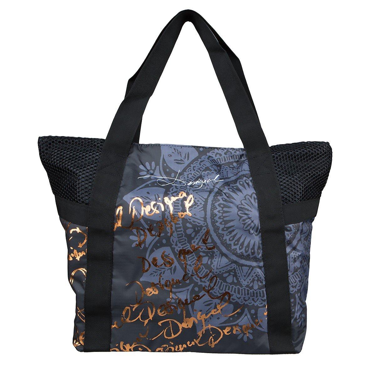 Desigual Bols Shopping Bag G Dorado