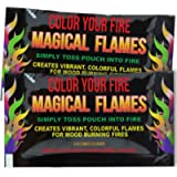 Magical Flames Vibrant & Colorful Flames for Wood Burning Fires (25 Pack)