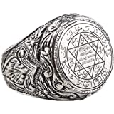 Arabic hand ornament 925 Thai Silver Antique two color ring Saudi star ring for men and women