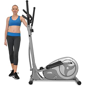 JLL® CT300 Home Luxury Elliptical Cross Trainer, 2018 Magnetic Cardio Workout with 8-level Magnetic Resistance, 5.5KG Two Way Flywheel, Console Display with Heart Rate Sensor and Tablet Holder. Silver